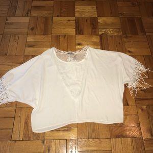 White Sheer-like dressy top